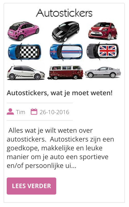 autostickers wat je moet weten