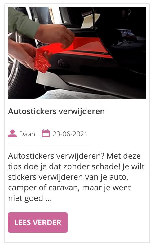 auto stickers verwijderen zonder beschadigingen