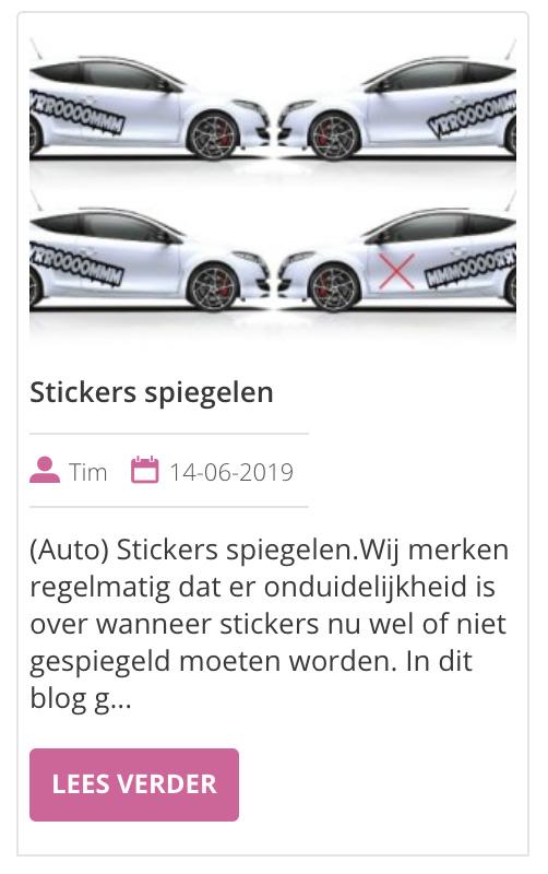 stickers spiegelen