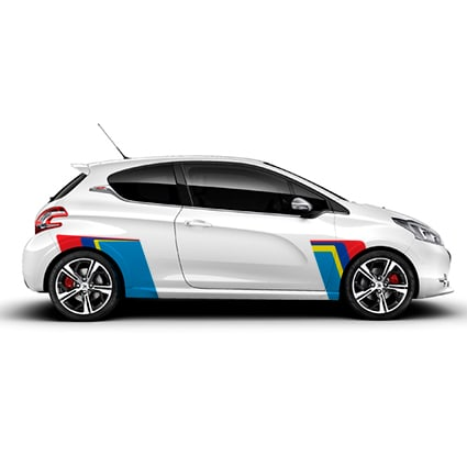 Peugeot Rally stickers Peugeot stickers