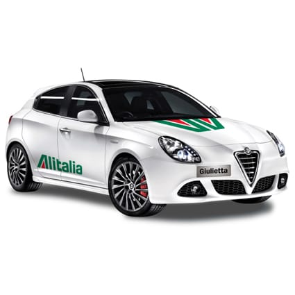 AlfaRomeo retro Alitalia striping AlfaRomeo stickers