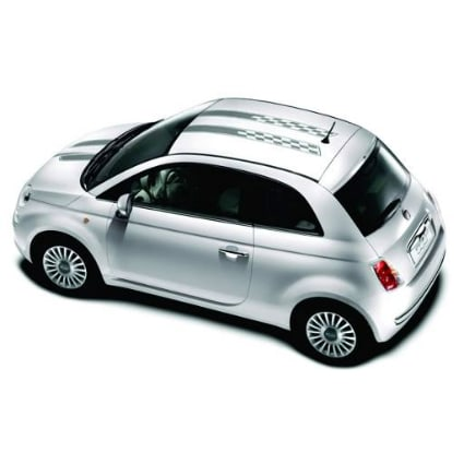 Fiat checkered striping 6 Fiat stickers