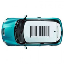 Mini Cooper barcode sticker