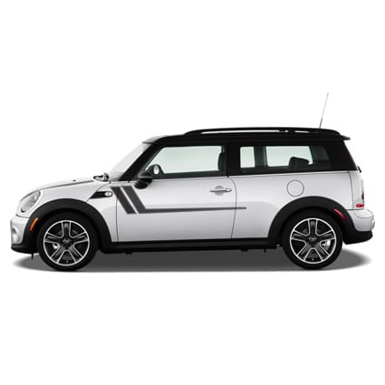 Mini Cooper power striping Mini Cooper stickers