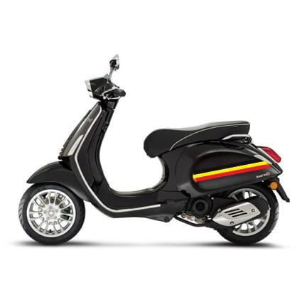 Belgische vlag striping scooter Scooter stickers
