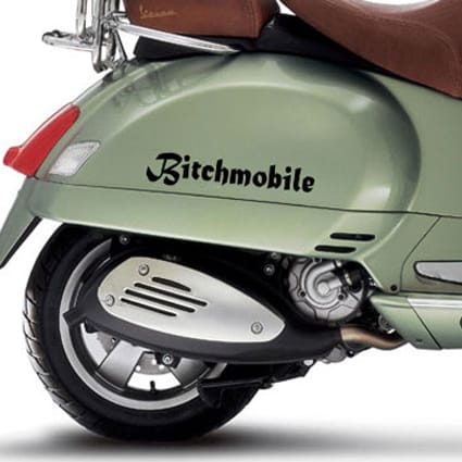 Bitchmobile sticker Scooter stickers