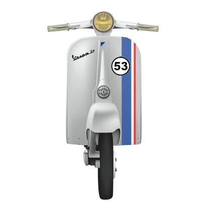 Herbie striping scooter Scooter stickers