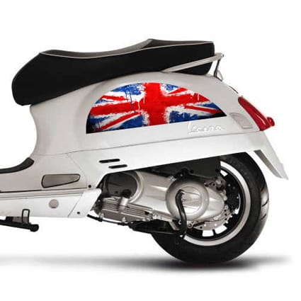 Union Jack stickers Vespa Scooter stickers