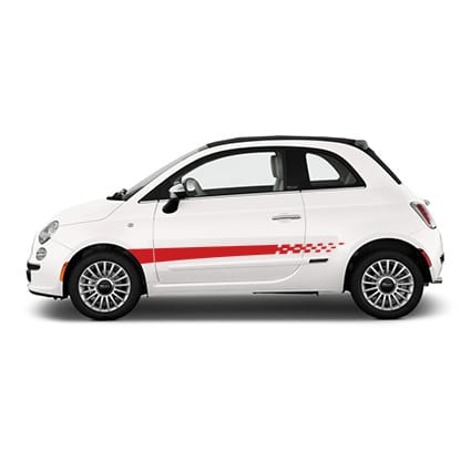 Fiat checkered striping 5 Fiat stickers