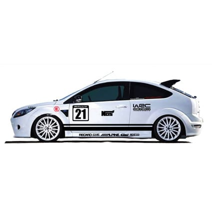 Rally sticker set Stripings