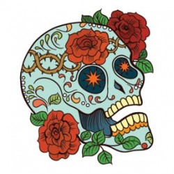 Sugarskull stickers - Auto & Scooter Stickers