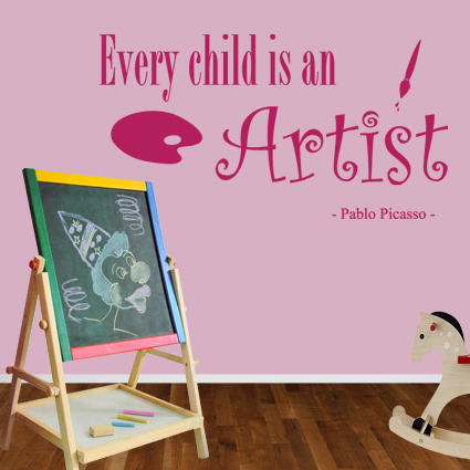 Muursticker Every child is an artist Tekst stickers