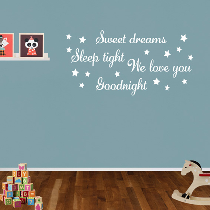Muursticker Sweet dreams 1 Tekst stickers