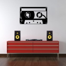 Cassettebandje decoratiesticker