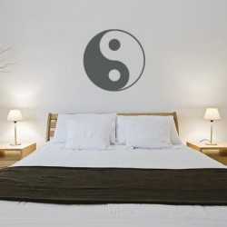 Yinyang decoratiesticker