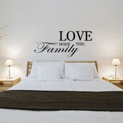 Muursticker Love family