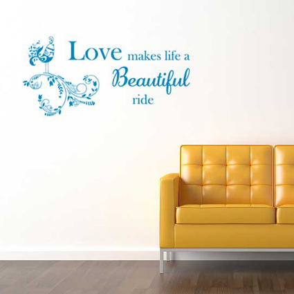 Muursticker Love makes life 2 Tekst stickers