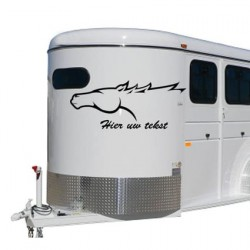 Paarden trailer sticker 2
