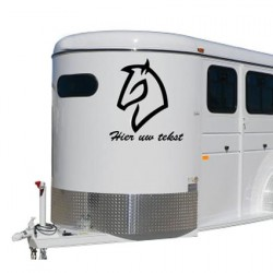 Paarden trailer stickers 10