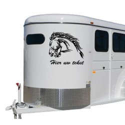 Paarden trailer stickers 11