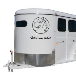 Paarden trailer stickers 13