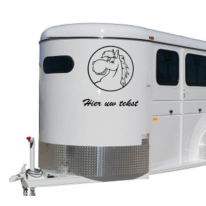 Paarden trailer stickers 13 Paardentrailer stickers