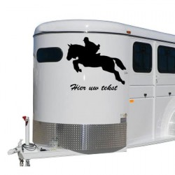 Paarden trailer stickers 14