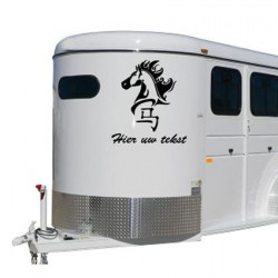 Paarden trailer stickers 15