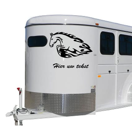 Paarden trailer stickers 16 Paardentrailer stickers