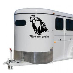 Paarden trailer stickers 17