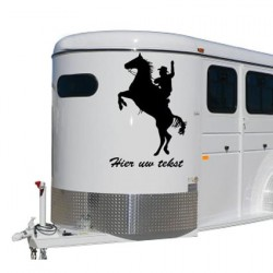 Paarden trailer stickers 18