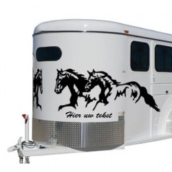 Paarden trailer stickers 20