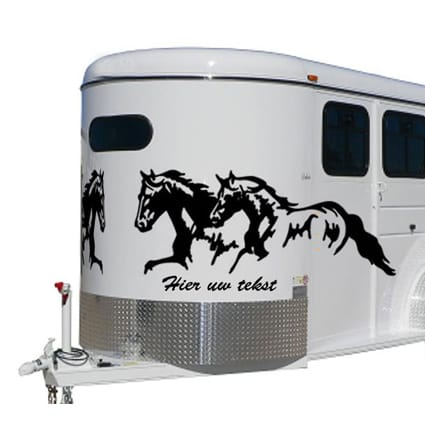 Paarden trailer stickers 20 Paardentrailer stickers