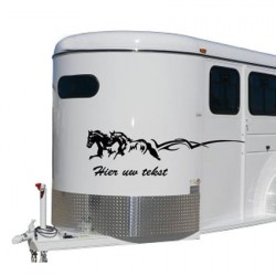 Paarden trailer stickers 21