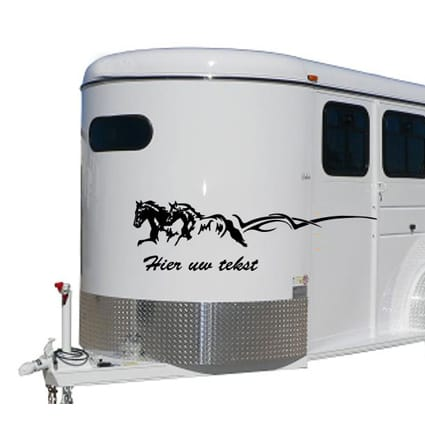 Paarden trailer stickers 21 Paardentrailer stickers