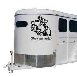 Paarden trailer stickers 22