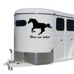 Paarden trailer stickers 3
