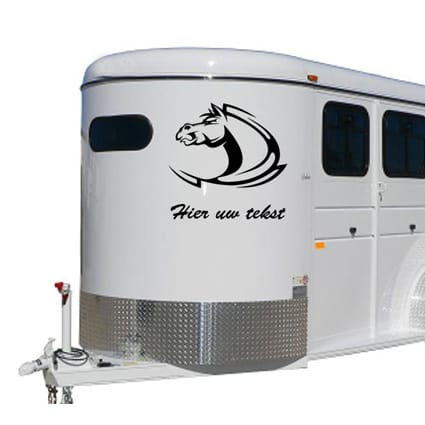Paarden trailer stickers 5 Paardentrailer stickers