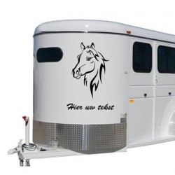 Paarden trailer stickers 9