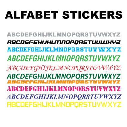 Alfabet stickers Cijfer & Letter stickers