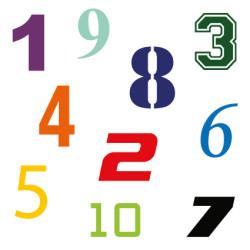 Cijfer stickers / plakcijfers