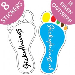 Voetstap stickers 7