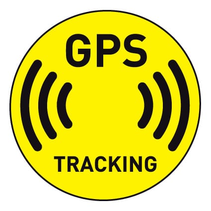 GPS tracking sticker Signs & pictogrammen
