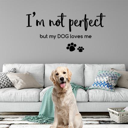 muursticker dog love
